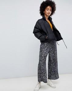 Укороченные брюки с принтом Dr Denim abel - Черный
