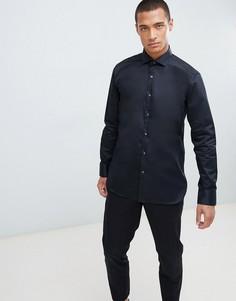 Черная эластичная рубашка Ted Baker - Черный