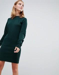 Платье-джемпер с круглым вырезом Brave Soul Grungy - Зеленый