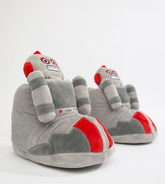 Серые ботинки-слиперы с отделкой в виде робота ASOS DESIGN - Серый