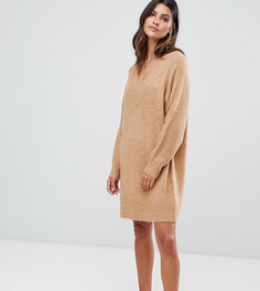 Свободное платье-джемпер с добавлением мохера Micha Lounge luxe - Бежевый