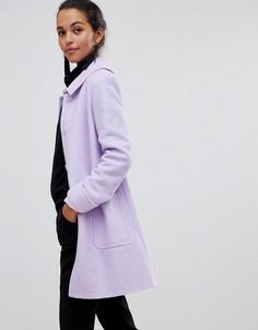 Расклешенное пальто с добавлением шерсти Helene Bermal - Фиолетовый