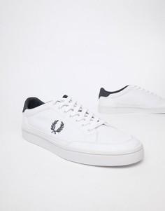 Белые парусиновые кроссовки Fred Perry Deuce - Белый