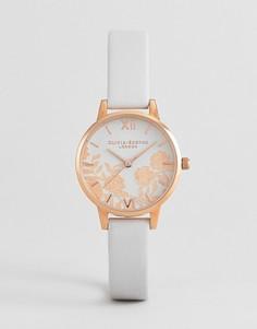 Часы с белым кожаным ремешком Olivia Burton OB16MV69 - Белый