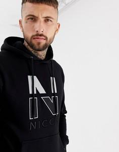 Худи черного цвета с логотипом на груди Nicce - Черный