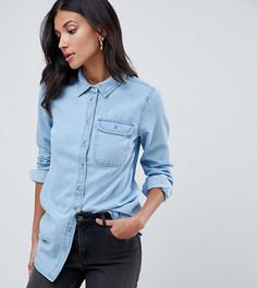 Синяя джинсовая рубашка с карманом ASOS DESIGN Tall - Синий