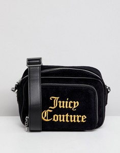 Сумка через плечо с вышитым логотипом Juicy Couture Black Label Pixley - Черный