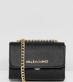 Черная сумка через плечо с цепочкой Valentino by Mario Valentino - Черный