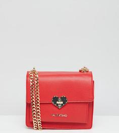Красная сумка через плечо с замочком Valentino by Mario Valentino - Красный