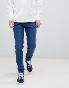 Синие прямые джинсы Weekday - Синий