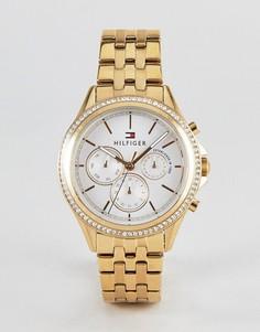 Золотистые часы Tommy Hilfiger Ari 40 мм - Золотой