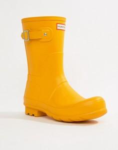Короткие резиновые сапоги желтого цвета Hunter - Желтый