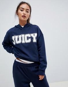 Oversize-худи с логотипом Juicy By Juicy Couture - Темно-синий