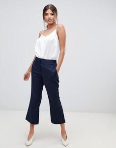 Укороченные расклешенные брюки в тонкую полоску из комплекта Millie Mackintosh - Черный