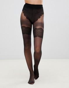 Черные колготки со швом сзади Pretty Polly Flirty - Черный