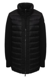 Пуховая куртка с воротником-стойкой Moncler