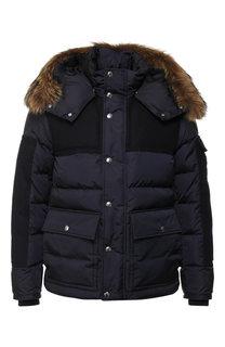 Пуховая куртка Alphard на молнии с капюшоном Moncler