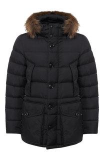Пуховая куртка Cluny на молнии с капюшоном Moncler