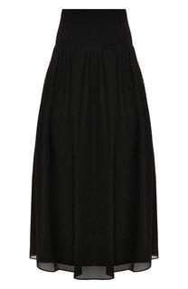 Однотонная юбка с эластичным поясом DKNY