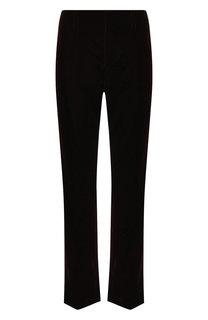 Укороченные бархатные брюки с карманами Saint Laurent