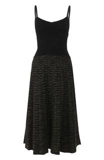 Платье-миди на тонких бретельках Proenza Schouler
