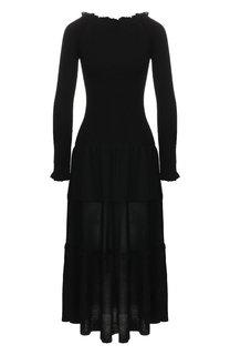 Платье-миди с открытыми плечами Altuzarra