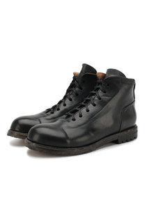 Кожаные ботинки на шнуровке Silvano Sassetti