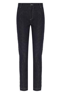 Укороченные джинсы с контрастной прострочкой Fendi