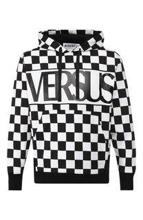 Хлопковое худи с логотипом бренда Versus Versace
