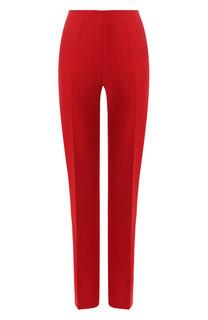 Однотонные брюки из смеси шелка и шерсти Valentino