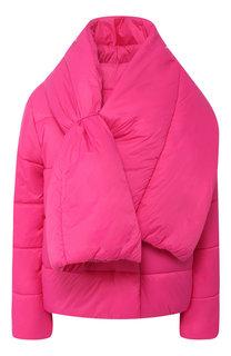 Стеганая куртка с объемным воротником BOSS