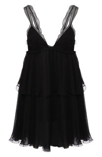 Шелковое мини-платье с оборками Tom Ford