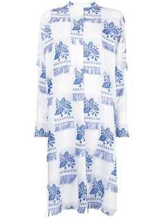 платье-рубашка с цветочным принтом и бахромой Ports 1961