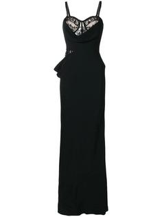 вечернее платье с кружевными вставками Alexander McQueen