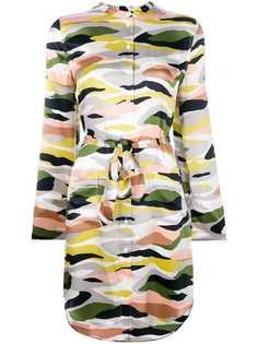платье-рубашка с камуфляжным рисунком Equipment