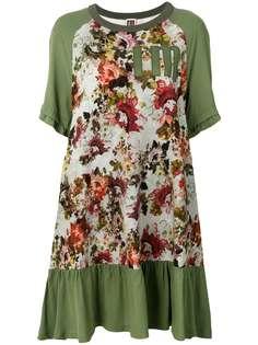 платье-толстовка со вставками с цветочным рисунком I'M Isola Marras