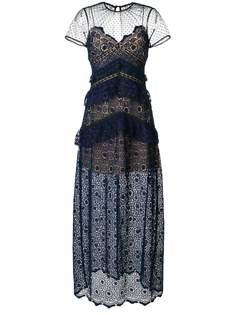 кружевное платье макси Self-Portrait