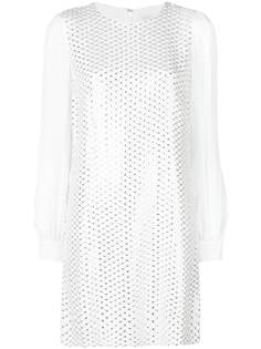 платье прямого кроя с отделкой пайетками Michael Michael Kors