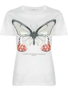 футболка с перламутровым принтом-бабочкой Golden Goose Deluxe Brand