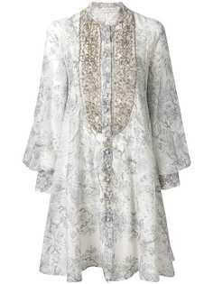 платье с принтом и вышивкой Etro