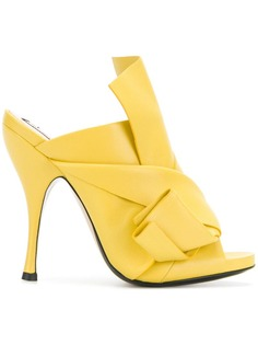 abstract bow stiletto mules Nº21