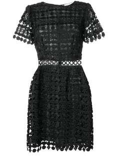 кружевное платье с геометрическим узором Michael Michael Kors