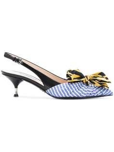 туфли-лодочки с бантами Prada