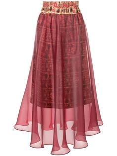 двухслойная юбка-миди Pose Arazzi
