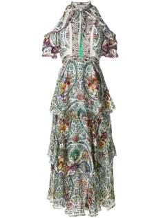 платье с открытыми плечами и принтом Etro