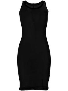 прозрачное платье облегающее без рукавов Rick Owens