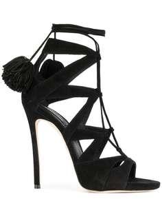 туфли с ремешками и помпонами Dsquared2