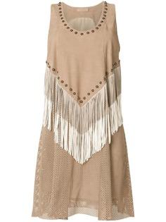 платье с бахромой и заклепками Drome