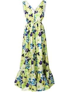 floral print long-length dress MSGM