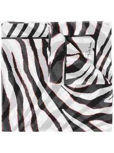 шарф с зебровым принтом Roberto Cavalli
